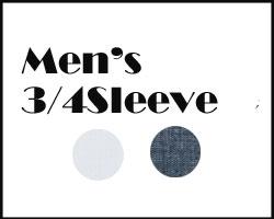 Lee メンズ七分袖シャツ
