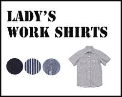 Lee レディ―スワーク半袖シャツ